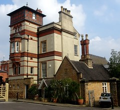 [74380] Nottingham : Tower House & East Lodge (Budby) Tags: nottinghamshire nottingham house villa lodge gatehouse 19thcentury
