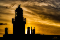 Light behind the Lighthouse, Chanonry Lighthouse, Fortrose, Scotland