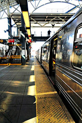 Coney Island Subway Terminal (Robert S. Photography) Tags: subway station platform terminal lights yellow train brooklyn coneyisland nyc sony dsch55 color april 2019