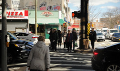 Crossing Street (Brighton Beach) (Robert S. Photography) Tags: street crossing waiting people signs stores cars trafficlights brightonbeach newyork brooklyn sony color dsch55 iso80 april 2019
