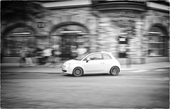 Not Only Volvo (Steve Lundqvist) Tags: fiat 500 cinquecento panning stockholm sweden white ride speed timing fca nikon d700
