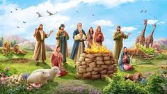 La benedizione di Dio a Noè dopo il diluvio (eshao5721) Tags: montagna nuvoloso cieloblu noè famiglia fuoco lachiesadidioonnipotente dio dioonnipotente