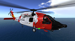 On a mission (antoniohunter55) Tags: secondlife helicopter fun flight fly