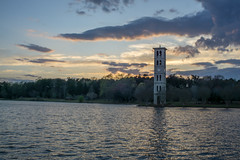 7:35 pm (agasfer) Tags: 2019 southcarolina greenville furman swanlake spring clouds sunset carillon tower sony a6000 cloudsstormssunsetssunrises 7artisans 7artisans11825mm