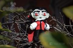 Dracula by Chibi Art Toy (MerlinaLand) Tags: arttoy plush handmade