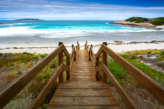 Wooded step in Salmon beach (anekphoto) Tags: beach australia beautiful ocean blue shore landscape nature summer water travel sea view tourism vacation tropical coast stairs island western background sky holiday perth sunny salmon sand coastline seascape steps wooden white outdoor sun turquoise cervantes empty green wave scenic stairway point sandy thirsty walkway rottnest fresh down wood horizontal wild