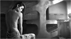 (horlo) Tags: nb bw blackandwhite noiretblanc monochrome film movies cinema portrait fonddécran wallpaper glamour actress vintage woman femme sarahmutch collage