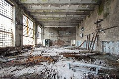 sports hall, Prypjat. (maecces) Tags: unterwegs ukraine tschernobyl prypjat lost abandoned urbex urbanexploration lostplace exclusionzone