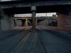 Not a thru street (ADMurr) Tags: la rail bridge clearance 500cm 50mm distagon kodak portra dad703 hasselblad crop mf