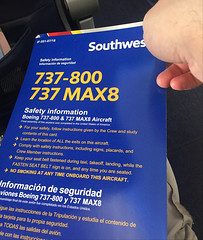 Fortunately, it's a 737-800 (afagen) Tags: baltimore maryland bwi airplane southwestairlines boeing737 boeing boeing737max8 737max8 boeing737800 safety