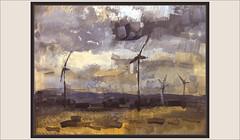 LA FATARELLA-PINTURA-MOLINS-VENT-PARC EÒLIC-CAPVESPRE-PAISATGES-COMARCA-TERRA ALTA-TARRAGONA-CATALUNYA-QUADRES-ARTISTA-PINTOR-ERNEST DESCALS (Ernest Descals) Tags: lafatarella molins molinos vent viento aire cialo nubes campos paisatge paisatges terraalta comarca tarragona comarques natura naturaleza parceòlic gigantes campo paisaje paisajes pueblos pobles poble pueblo village landscape landscaping plastica plasticos capvespre atardecer sunset montañas wild pintura catalunya cataluña catalonia pintar pintando paisajistas pintures pintruas cuadros cuadro quadres quadre pintant pintores pintor pintors painters painter paint pictures paintings painting mistica misticos terra mecanica ernestdescals artistes artistas tonos dorados teñir mills wind art arte artwork entorn