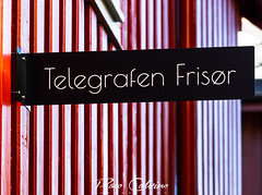 Haircut on sale (Paco CT) Tags: røros trøndelag norway red wall sign streetphotography street pacoct 2019 outdoors