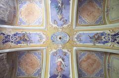 Villa Viola (Sean M Richardson) Tags: abandoned villa details ceiling architecture mural painting color light italia travel explore urbex canon photography decay texture vibrant