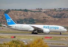 AIR EUROPA B787 EC-MIH (Adrian.Kissane) Tags: 36413 6112018 b787 ecmih aireuropa madrid airport 787 boeing dreamliner plane airliner runway takeoff jet aeroplane hill