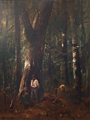 Forest Scene with Two Figures by M MUNKACSY 1873 (deatail) 169c (Andras Fulop) Tags: szolnok hungary painting exhibition gallery museum munkacsy forest