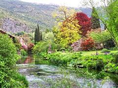 Paesaggio 5 a Ninfa (Wronny) Tags: italia italy giardino giardini ninfa di garden parco park lazio latina cisterna sermoneta