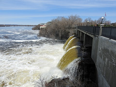 The west dam at Rideau Falls during this spring's thaw in Ottawa, Ontario (Ullysses) Tags: ottawa ontario canada spring printemps rideauriver riviererideau chutesrideau springthaw westdam rideaufalls