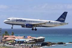 DSC_8962Pwm (T.O. Images) Tags: n608jb jetblue airbus a320 sxm st maarten princess juliana airport maho beach