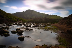 Calm stream (jamestapatio) Tags: stream california icend1000 longexposure canon6d goldenhour morning landscape 28mm18 water pacifica