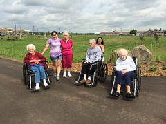Walking with seniors (Pictures by Ann) Tags: nursinghome volunteer volunteering walking wheelchairs exercise social