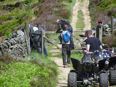 Quad bikers in the Goyt Valley (Ocset) Tags: goytvalley quadbikes tyre exhaust woodengate teenagers heather