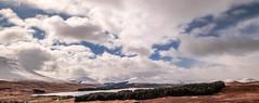 Highland sky (NikNak Allen) Tags: scotland scottish highlands scottishhighlands landscape grass grasses trees loch mountain mountains cloud clouds winter snow sky big view look longexposure