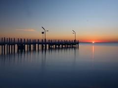 Mt Martha Sunset. Victoria - Australia (rosgloryfire) Tags: public pier seascapes australia bay scenic reflections dusk water olympus light goldenhour sunset sun sea sky nature landscapes nisifilters longexposure