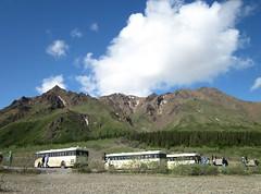 Waiting Tour Buses (R D C) Tags: 2012 ak denalinationalpark nationalparks alaska mountains
