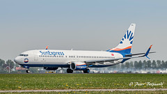 TC-SEN  Boeing 737-800  - SunExpress (Peter Beljaards) Tags: ams eham schiphol airplane jetliner aircraft plane departure polderbaan nikon7003000mmf4556 nikond5500 36l tcsen boeing737800 737 boeing737 sunexpress msn61174 cfm567