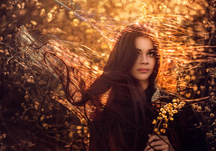Fiery ({jessica drossin}) Tags: orange jessicadrossin woman portrait hair fire fiery face pretty