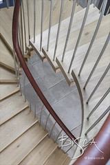 Bisca 6707 feature helical staircase design 15 (Bisca Bespoke Staircases) Tags: 6707 appletreewick featurehelicalstaircasedesign featurestairs helicalstaircasedesign housegarden
