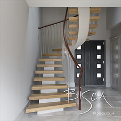 Bisca 6707 feature helical staircase design 02 (Bisca Bespoke Staircases) Tags: 6707 appletreewick bisca biscastaircases centrespine customstairs featurehelicalstaircasedesign featurestairs handmadestairs helicalstaircasedesign housegarden staircasedesign staircasedesigneryorkshire staircasemanufacturer staircasesupplier whitepaintedspine