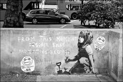 Banksy? - DSCF0582a (normko) Tags: london west end marble arch graffiti banksy extinction rebellion xr stencil spray paint despairends tacticsbegin