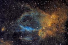 Lobster Claw Nebula - SH2-157 - Hubble Palette (Astrolights.de) Tags: astrophotography lobsterclawnebula sh2157 hubblepalette sho zwoasi183mmpro