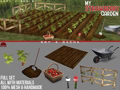 My Strawberry Garden - Set - Not Gacha - REDSUN (cuuka) Tags: sl second life secondlife red sun redsun garden strawberry fraises natural nature wild set objet materials