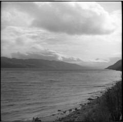 Loch Ness, Scotland (AJH_1) Tags: zeiss ikon nettar 120mm kodak tmax 100 scotland ness loch uk landscape monchrome black white bw