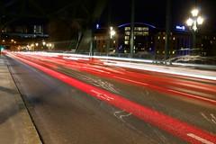Light trails on Tyne Bridge. (Paul Webb.) Tags: newcastle gateshead tynebridge