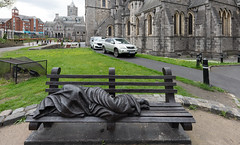 THE HOMELESS JESUS AT CHRIST CHURCH CATHEDRAL [HAS BEEN HERE SINCE 2015 BUT THIS WAS MY FIRST TIME TO NOTICE IT] -152095 (infomatique) Tags: sculpture homeless homelessjesus christchurch cathedral publicart streetsofdublin ireland timschmalz american episcopalian benefactor devoutcatholic williammurphy infomatique fotonique sony a7riii sigma 14mm widenglelens