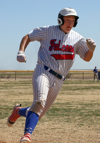 Kaleb Brown rounds third base on his way to an inside-the-park-grand slam. - PLDL8696