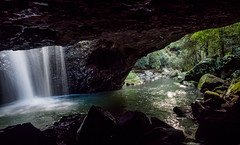 Natural Bridge (jojoe_au) Tags: australia autumn nature queensland tamborinemountain tourism naturalbridge rainforest runningwater flowingwater waterfall creek stream