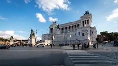 Monumental (Nicola Pezzoli) Tags: italia italy rome roma capitale city città street photography altare patria white marble monuments historical architecture blue sky