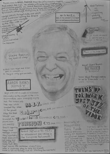 Portrait of Nigel Farage.
