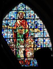Stain Glass Window in Saint Nicholas Catholic Church, Brussels, Belgium (Joseph Hollick) Tags: church brussels belgium stainglass window
