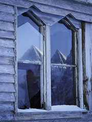 Twin Peaks Mystery (adam_pierz) Tags: lofoten norway winter ice micro43 microfourthirds olympusomd derelict windows