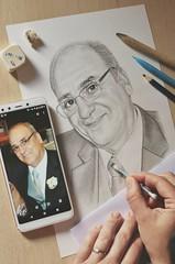 Drawing portraits (angd1981) Tags: retrato portrait pencil hobby hobbies lookingcloseonfriday closeup 50mm nikon