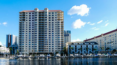 Tampa Bay River Walk (Paul Lucas120) Tags: toweringbuilding towerblock tower towering building skyscraper skyscrapers riverwalk city cityriverwalk seaside water seawater wellsfargo wellsfargobuilding wellsfargobank sheratonbuilding
