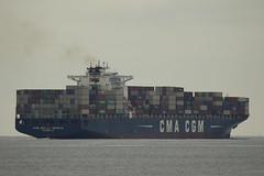 CMA CGM LA TRAVIATA - De Nieuwe Waterweg - Hoek van Holland (Jan de Neijs Photography) Tags: ship vessel zuidholland holland nederland thenetherlands dieniederlande southholland tamron150600g2 tamron tamron150600 150600 g2 schiff maasvlakte rotterdam hoekvanholland boot denieuwewaterweg waterweg sea maasmond hvh cmacmg cmacgmlatraviata imo9299795 9299795 containership marseille containers containerreus containerschiff