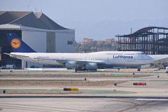 LAX - Lufthansa (D-ABYD) (rivarix) Tags: lufthansa lh staralliance a airline airways aircraft airplane jetplane jetengine fuselage tail wings verticalstabilizer widebodyaircraft twinaisleplane boeingb747800 b747 b748