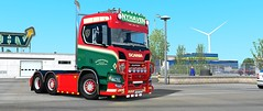 Nyhaven Transport  Painjobs (wirdokhatzu sevenstrings) Tags: nyhaven custom cyberrior company trucks transport trailers eurotrucksimulator euro ets2mp ets2 artwork scania scaniavabis scania2016 paintjobs
