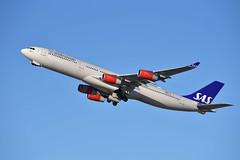SAS A340 OY-KBI at SFO (Ian E. Abbott) Tags: airbus a340313 a340300 a340 sas scandinavianairlines oykbi 430 sanfranciscointernationalairport ksfo sfo